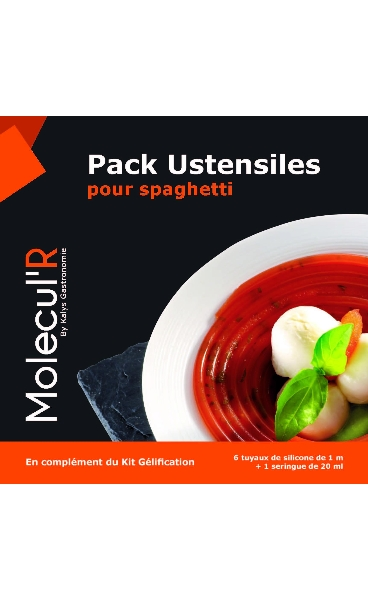 Kit cuisine mol culaire pack ustensiles pour spaghetti for Seringue cuisine moleculaire