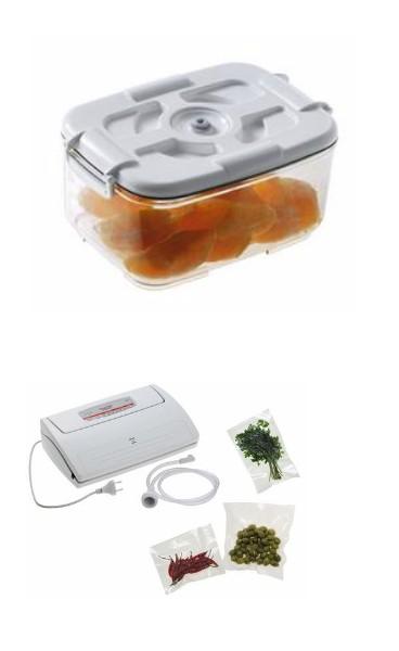 Set de 4 bacs boites pour mise sous vide pompe - Plats cuisines sous vide pour restaurant ...