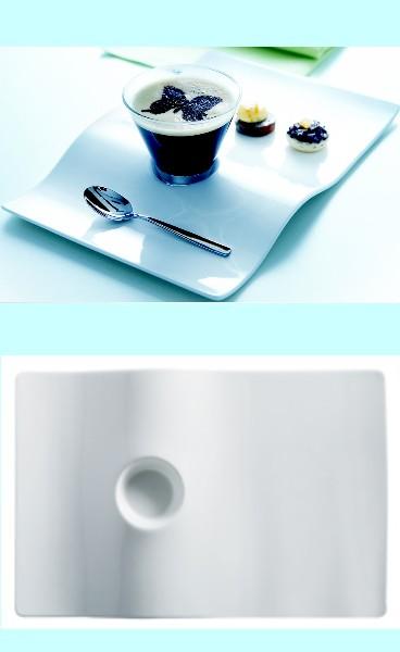 Assiette plancha service caf gourmand en porcelaine par 6 370 detacabaco decoration - Assiette rectangulaire pour cafe gourmand ...