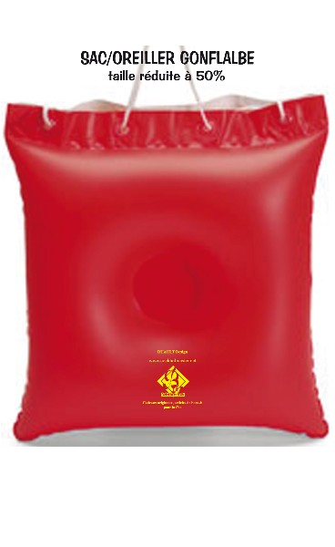 sac oreiller gonflable rouge 139 detacabaco decoration table cadeaux bar cocktails. Black Bedroom Furniture Sets. Home Design Ideas
